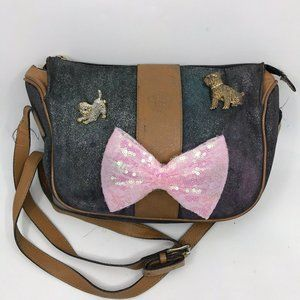 Fendi Vintage Bag Customized w/ Bow and Dog